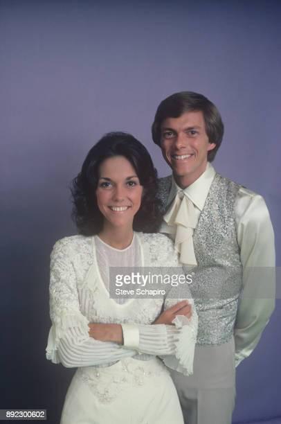 Portrait of American sibling musicians Karen Carpenter and Richard Carpenter Los Angeles California 1973 The pair performed as 'The Carpenters'