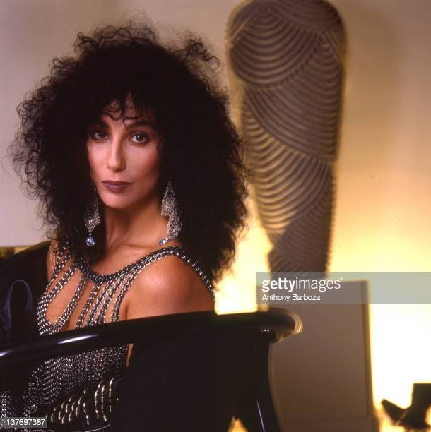 Portrait of American singer and actress Cher Los Angeles California 1987