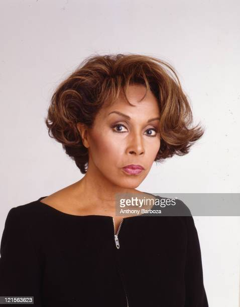 Portrait of American singer and actress Diahann Carroll New York New York 1999