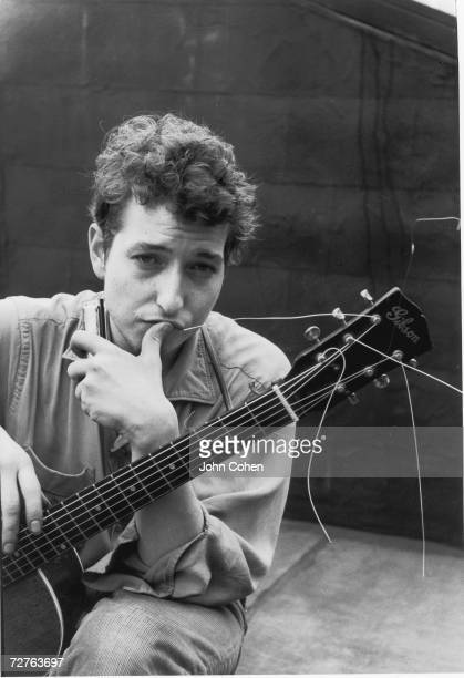 Portrait of American singer and musician Bob Dylan New York New York 1962