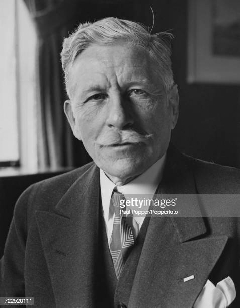Portrait of American soldier and diplomat Patrick J Hurley pictured in Washington DC after resigning as US Ambassador to China on 27th November 1945