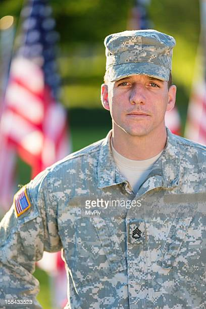 Portrait of American Soldier