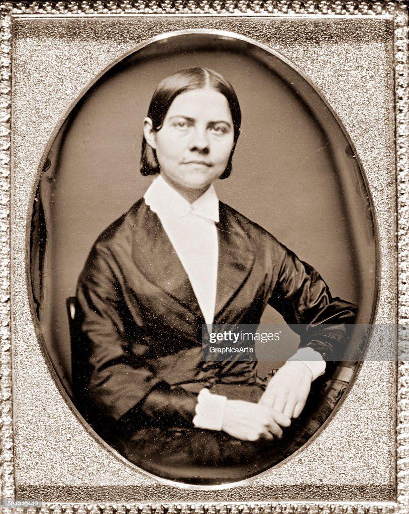 Portrait of American suffragist Lucy Stone circa 184060 Daguerreotype