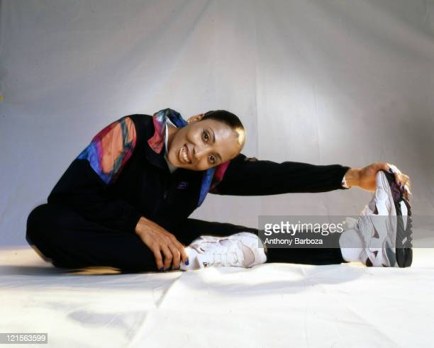 Portrait of American track and field athlete Florence GriffithJoyner Los Angeles California 1997
