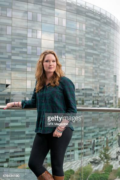 Portrait of American young adult fantasy author Sarah J Maas photographed at Docklands in London on August 15 2014 Maas is best known for her 'Throne...