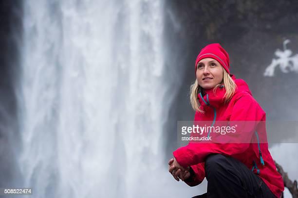 Porträt von eine aktive Frau in der Natur
