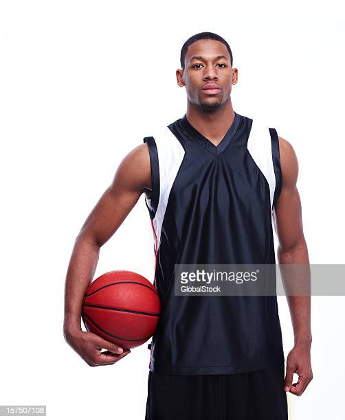 Portrait of an African American basketball player