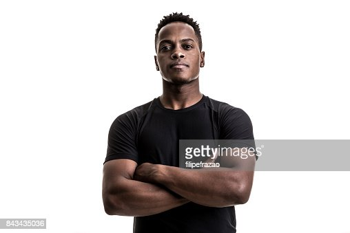 Portrait of an afro athletic man : Stock Photo