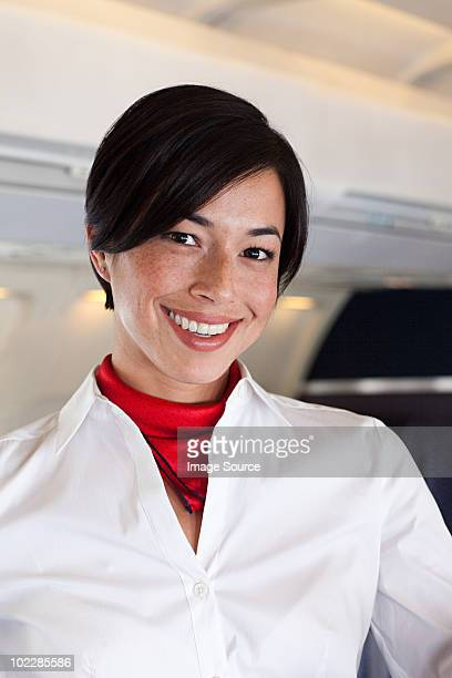 Portrait of an air stewardess