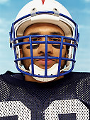 Portrait of an American Football Player