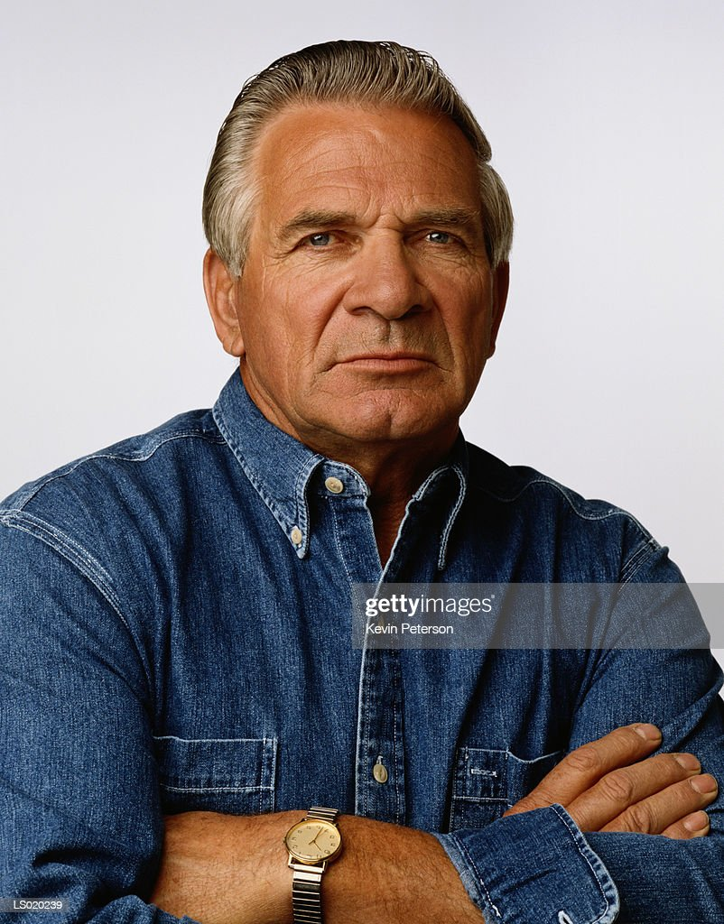 Portrait of an Angry Man : Stock Photo