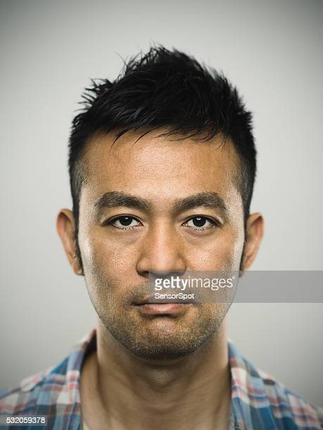 Portrait of an angry young japanese man
