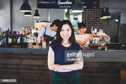 Portrait of an Asian Restaurant Manager