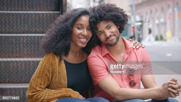 Portrait of an Attractive African American Couple in the City