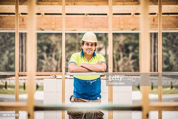 Portrait of an Australian Construction worker