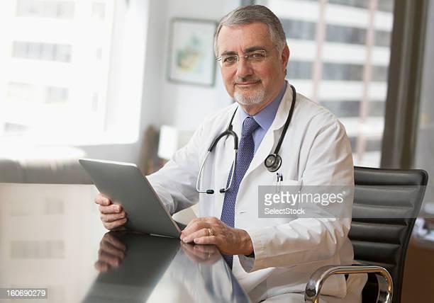 Portrait of an elderly doctor