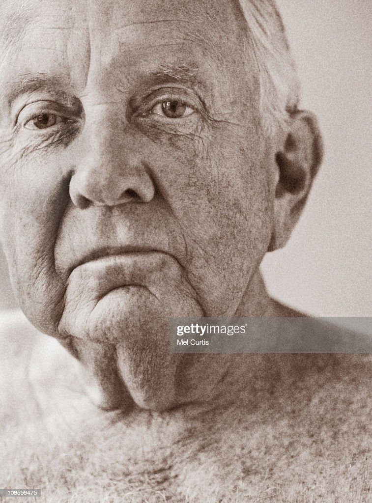 Portrait of an elderly man : Stock Photo