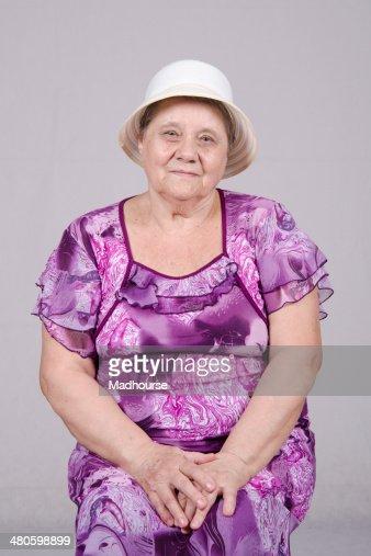 Portrait of an elderly woman : Stock Photo