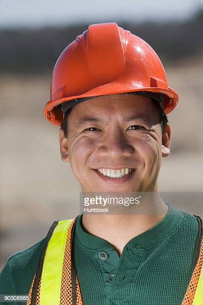 Portrait of an engineer smiling