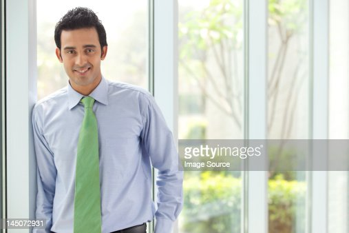 Portrait of an executive smiling : Foto stock