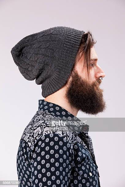 Portrait of an hipster man with beard