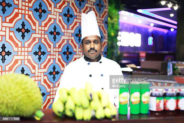 Portrait of an Indian chef