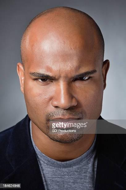 Portrait of an intense man
