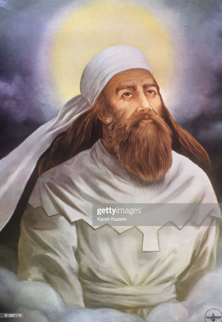 A portrait of ancient Persian poet and prophet <a gi-track='captionPersonalityLinkClicked' href=/galleries/search?phrase=Zarathustra&family=editorial&specificpeople=980587 ng-click='$event.stopPropagation()'>Zarathustra</a> or Zoroaster, founder of Zoroastrianism, circa 1995.