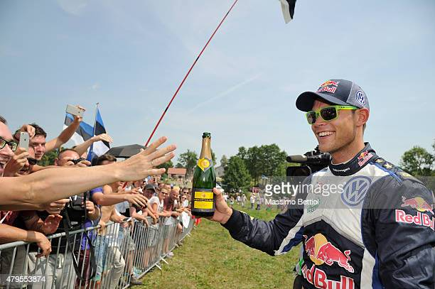 Portrait of Andrea Mikkelsen of Norway during Day Three of the WRC Poland on July 5 2015 in Mikolajki Poland