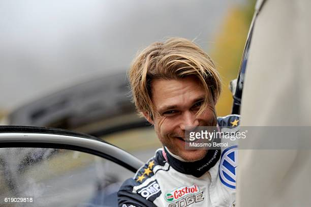 DEESIDE WALES OCTOBER Portrait of Andreas Mikkelsen of Norway during Day Two of the WRC Great Britain on October 29 2016 in Deeside Wales
