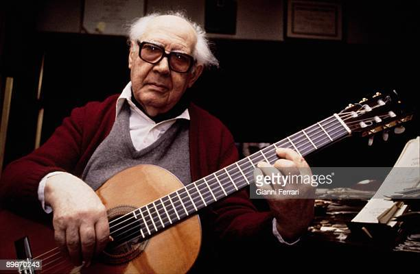 Portrait of Andres Segovia guitarist