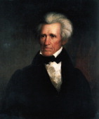 Portrait of Andrew Jackson American politician seventh President of the United States of America Painting by Asher Brown Durand New York New York...