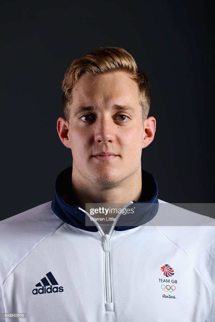 A portrait of <a gi-track='captionPersonalityLinkClicked' href=/galleries/search?phrase=Andrew+Willis&family=editorial&specificpeople=5766987 ng-click='$event.stopPropagation()'>Andrew Willis</a> a member of the Great Britain Olympic team during the Team GB Kitting Out ahead of Rio 2016 Olympic Games on June 29, 2016 in Birmingham, England.