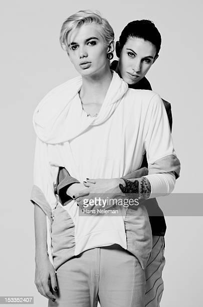 Portrait of androgynous couple