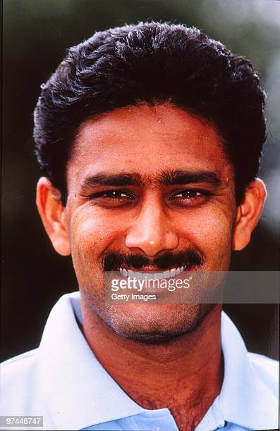 A portrait of Anil Kumble of India