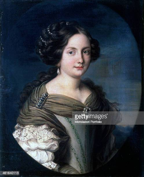 Portrait of Annamaria Carpegna Naro by Jacob Ferdinand Voet also known as Ferdinando of Portraits 1660 1680 17th Century oil on canvas Italy Lombardy...