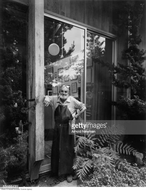 Portrait of Ansel Adams American landscape photographer August 7 1976 in Carmel California