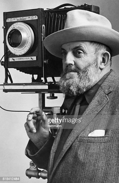 Portrait of Ansel Adams who first started his professional career as a pianist and later turned to the camera for selfexpression Since publication of...