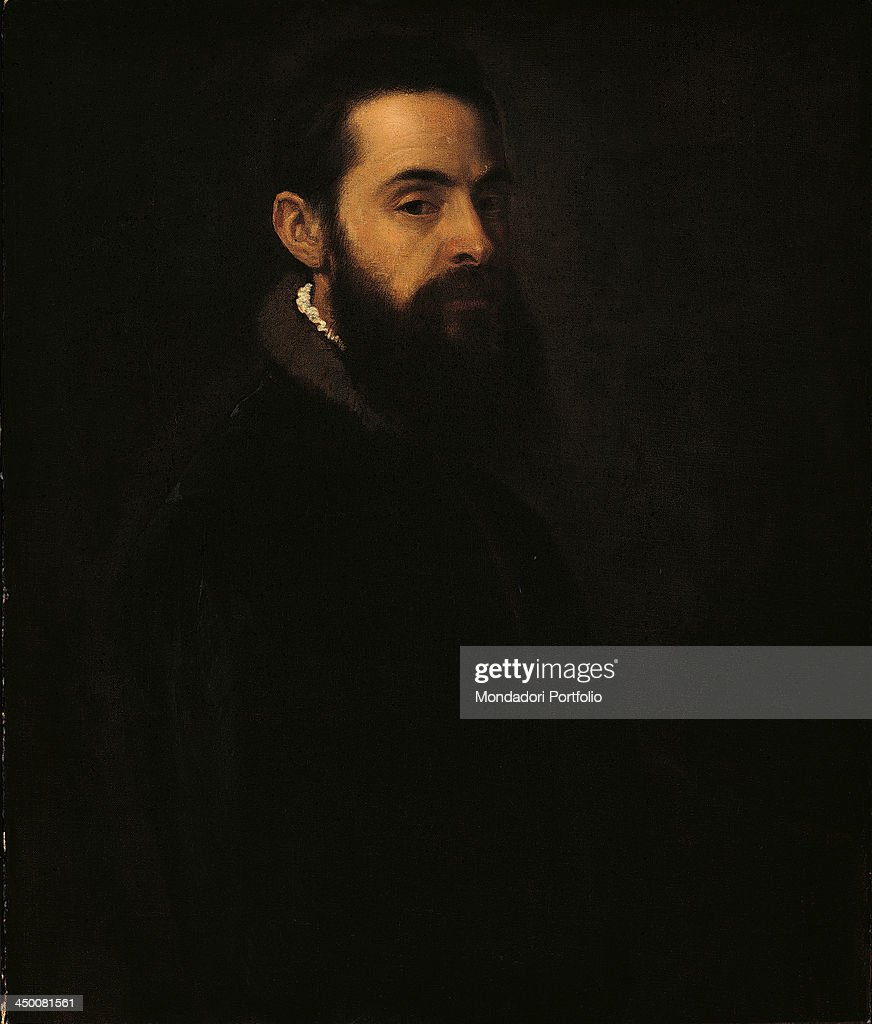 Portrait of Antonio Anselmi (Ritratto di Antonio Anselmi), by <a gi-track='captionPersonalityLinkClicked' href=/galleries/search?phrase=Tiziano+Vecellio&family=editorial&specificpeople=118780 ng-click='$event.stopPropagation()'>Tiziano Vecellio</a> known as Tiziano, 1550, 16th Century, oil on canvas, 76 x 64 cm .