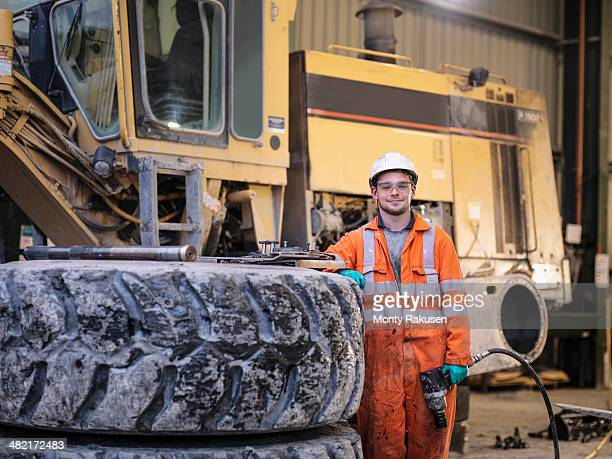Portrait of apprentice engineer in surface coal mine