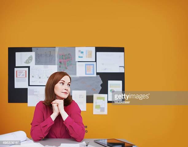 Portrait of architect in her studio
