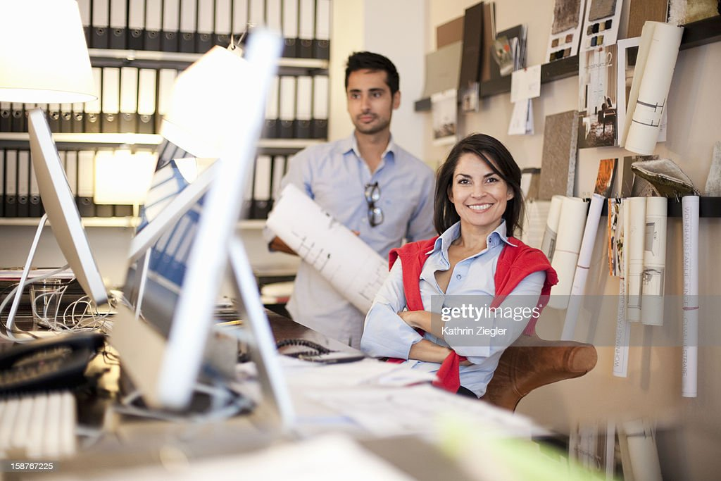 portrait of architects in the office : Stock Photo