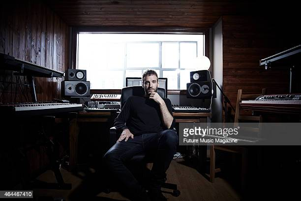 Portrait of Argentinian musician producer and DJ Gabriel Gutierrez better known by his stage name Guti photographed at his home studio in Barcelona...