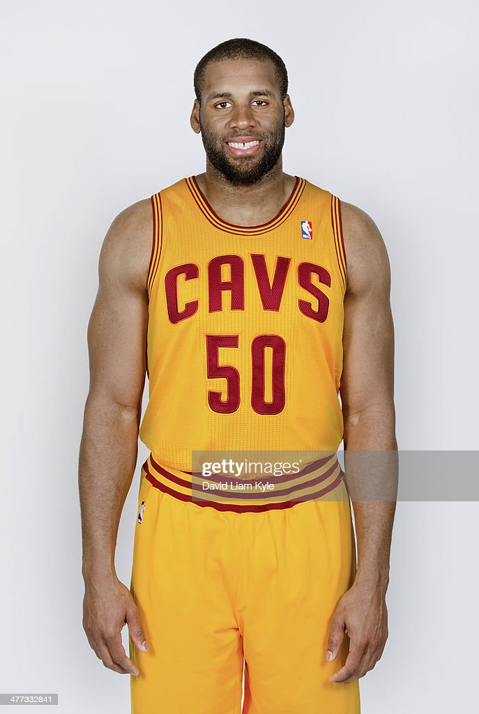 Portrait of Arinze Onuaku of the Cleveland Cavaliers standing before a game against the Utah Jazz at The Quicken Loans Arena on February 28 2014 in...