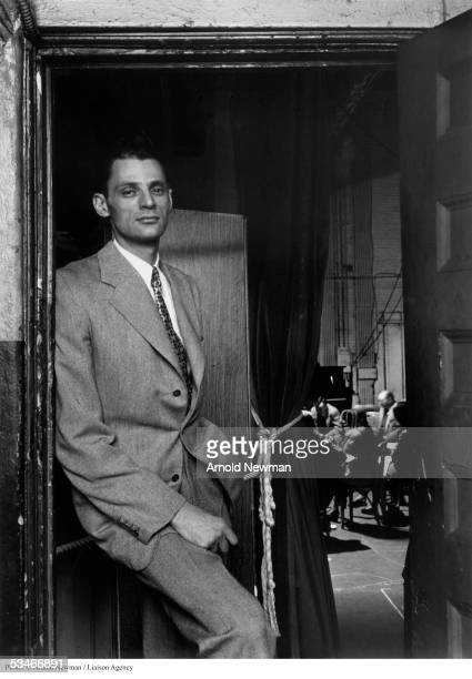Portrait of Arthur Miller playwright Febuary 20 1947 in New York City Miller is best known for his masterpiece 'Death of a Salesman'