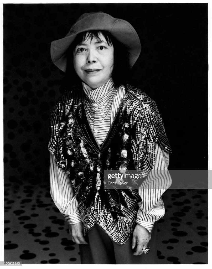 Portrait of artist and writer Yayoi Kusama, Venice, Italy, 1992.