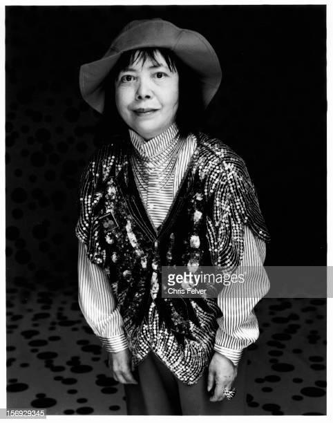Portrait of artist and writer Yayoi Kusama Venice Italy 1992