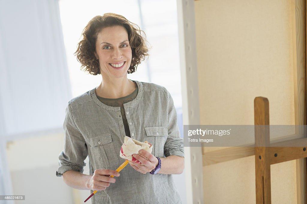 Portrait of artist in studio : Stock Photo