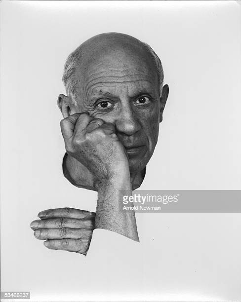 Portrait of artist Pablo Picasso June 2 1954 in Vallauris France