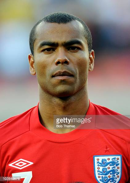 Portrait of Ashley Cole of England before the start of the 2010 FIFA World Cup South Africa Group C match between Slovenia and England at the Nelson...